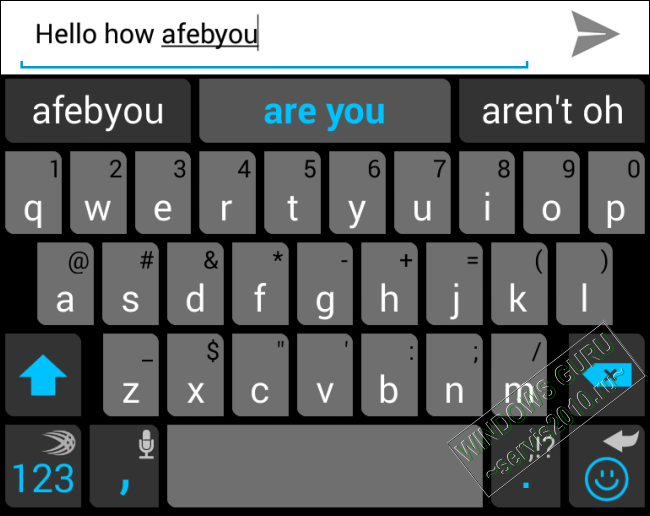 replacement keyboard in Android 1